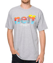 Neff Numeral Native Print Grey Tee Shirt