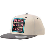 Glamour Kills Forever Girls Cream Snapback Hat