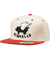 Glamour Kills Girls Cardinal Cream & Red Snapback Hat