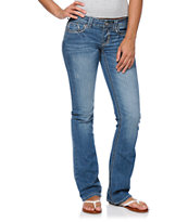 Hydraulic Lola Medium Blue Slim Bootcut Jeans