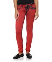 Hydraulic Indie Color Lanie Red Jeggings