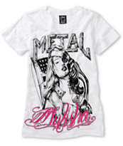 Metal Mulisha Girls Not Forgotten White Tee Shirt