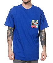 Volcom Barbados Blue Pocket Tee Shirt