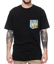 Volcom Aloha Black Pocket Tee Shirt