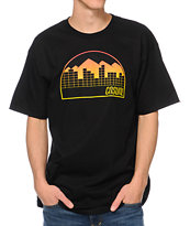 Casual Industrees Denver Fade Black Tee Shirt