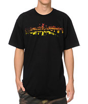Casual Industrees Portland Lights Fade Black Tee Shirt