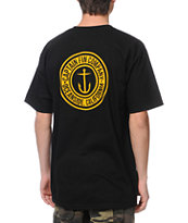 Captain Fin Co. Anchor Button Black Tee Shirt