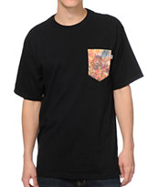 Bohnam Supply Co. Space Animals Black Pocket Tee Shirt