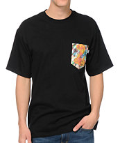 Bohnam Supply Co. Trippy Cobra Black Pocket Tee Shirt
