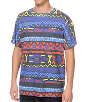 A-Lab Swagter Tribal Print Tee Shirt