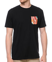 Akomplice Apache Print Black Pocket Tee Shirt
