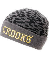 Crooks and Castles Cheater Grey Cuff Beanie