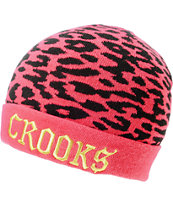 Crooks and Castles Cheater Hot Pink Cuff Beanie
