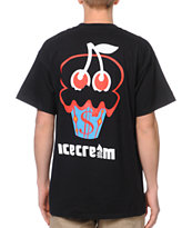 ICECREAM Cherry Cone Black Tee Shirt