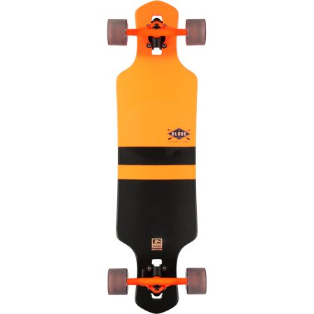 Globe Geminon Orange 35 Drop Through Longboard Complete
