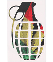 Grenade 8.5 Rasta Leaf Die Cut Sticker