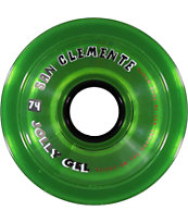 San Clemente Jolly Gel Green 74mm Skateboard Wheels