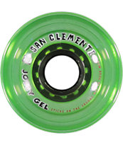 San Clemente Jolly Gel Green Apple 70mm Longboard Wheels