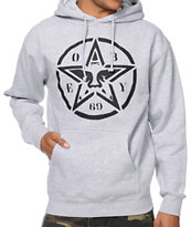 Obey Star Stencil Heather Grey Pullover Hoodie