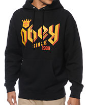 Obey Bar King Black Pullover Hoodie