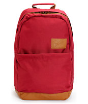 Volcom Girls Going Back Burgundy Laptop Backpack
