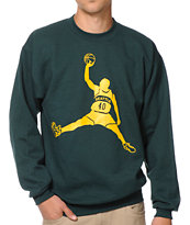 Casual Industrees Reignman Green Crew Neck Sweatshirt