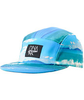 DNA Ocean Printed Blue 5 Panel Hat