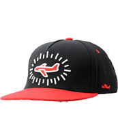 Fly Society Pop Black & Red Snapback Hat