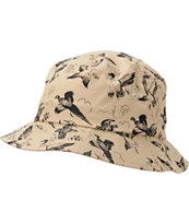 Undefeated Duck Print Khaki Bucket Hat
