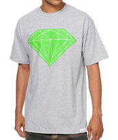 Diamond Supply Big Brilliant Heather Grey Tee Shirt