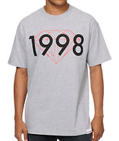 Diamond Supply 98 Brilliant Heather Grey Tee Shirt