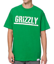 Diamond Supply x Grizzly Grip Tape T-Puds Grizzly Stamp Green Tee Shirt