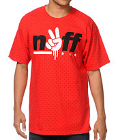 Neff Unity Red Polka Dot Tee Shirt