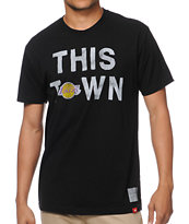 Sportiqe Lakers This Town Black Tee Shirt
