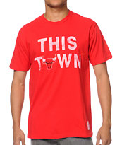 Sportiqe Bulls This Town Red Tee Shirt