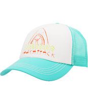 Billabong Andy Davis Shakaattack White & Mint Trucker Hat