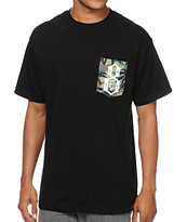 REBEL8 Camo Logo Black Pocket Tee Shirt