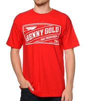 Benny Gold Stamp Red Tee Shirt