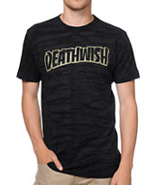 Deathwish Thrash Death Brush Wash Black Tee Shirt