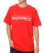 The Hundreds Brushmaker Red Tee Shirt