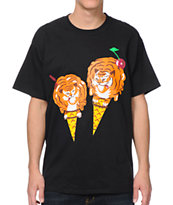 ICECREAM Tiger Cone Black Tee Shirt