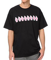 ICECREAM Soft Serve Logo Black Tee Shirt