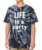 Booger Kids Party Life Black Tie Dye Tee Shirt
