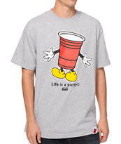 Booger Kids Mr Cup Grey Tee Shirt