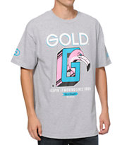 Gold Wheels Keepin It Moving Grey Tee Shirt