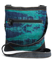 Baja Bags Washed Denim & Green Crossbody Purse