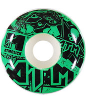 ATM Stickers Blue 53mm Skateboard Wheels