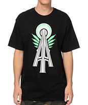 Casual Industrees Alpha Space Needle Lifted Black Tee Shirt