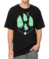Casual Industrees Safety Meeting Trees Black Tee Shirt