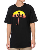 Casual Industrees Umbrella Fade Black Tee Shirt